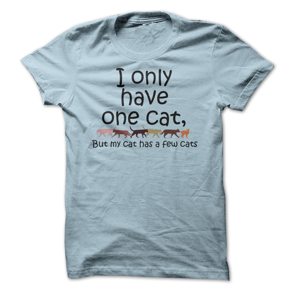 I Have One Cat But... tee at: https://catloversunite.net/onecat