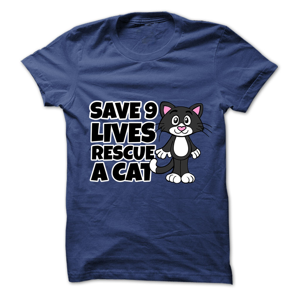 Save 9 Lives tee at: https://catloversunite.net/save9