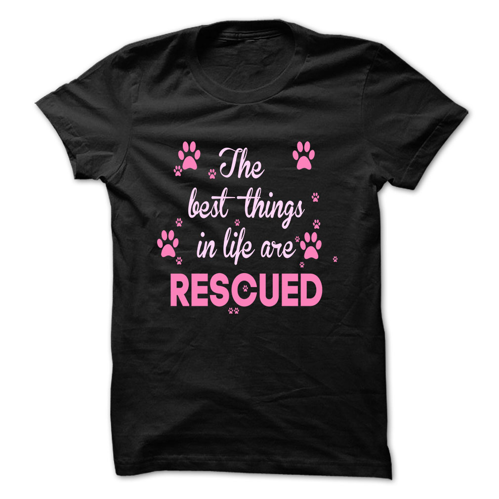 The Best Things In Life Are Rescued tee at: https://catloversunite.net/bestrescue