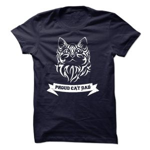 Proud Cat Dad tee at: https://catloversunite.net/CatDadTees