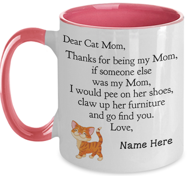 Image of funny Cat Mom mug